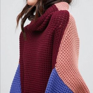 Free People Park City Colorblock Sweater